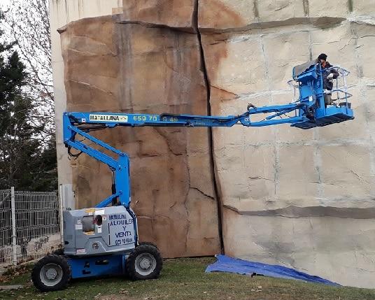 Plataforma artículada Genie de 12 metros en alquiler