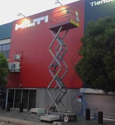 plataforma de tijera 10 metros