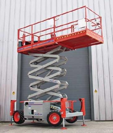 plataforma de tijera diesel en alquiler