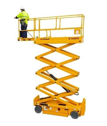 modelo de plataforma de tijera para interior