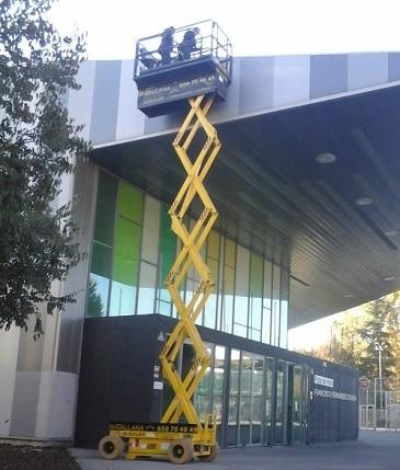 plataforma elevadora de personas - tijera electrica 12 metros